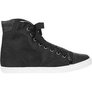 Lanvin Satin Cap Toe High Top Sneakers